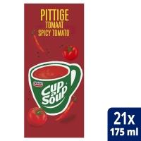 Cup-a-soup zakjes soep spicy tomaat - doos van 21