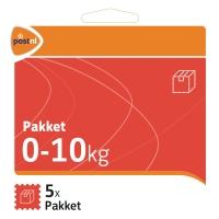 Standaard Pakketzegel t/m 10 kg (set van 5 stuks)