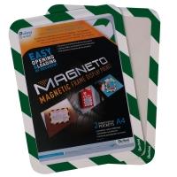 Magnetisch veiligheidskader A4 groen/wit - pak van 2