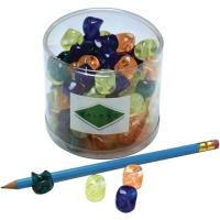 Schrijfhulp voor potlood assorti kleuren - pak van 100