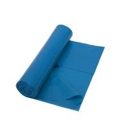 Vuilniszak 50 micron LDPE  70x110cm blauw - rol van 25