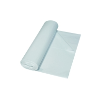 Vuilniszak 20 micron LDPE 40-60cmx60cm transparant - rol van 50