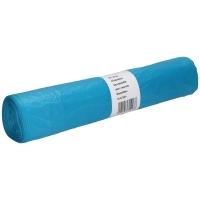 Vuilniszak 20 micron HDPE 70x110cm blauw - rol van 25