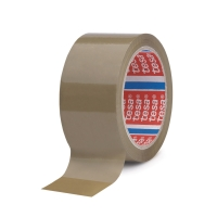 Tesa 4089 PP verpakkingstape 50 mm x 66 m bruin - pak van 6