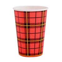 Koffiebeker uit karton rood 18 cl - pak van 100