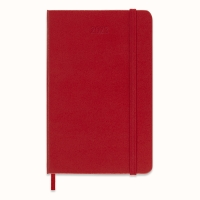 Moleskine pocket 1 dag per pagina rood