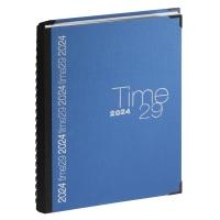 Exacompta Time 29 bureau-agenda met linnen omslag blauw grijs