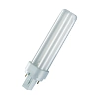 OSRAM CFL-NI lamp DULUX D 18W830 Warmwit G24D-2-200 lm-10000H-conv ballast