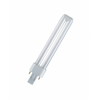 OSRAM CFL-NI lamp  G23 DULUX S 9W 830 Warrmwit-600 lm-10000H-conv ballast
