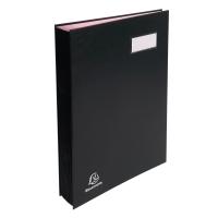 Exacompta vloeiboek 20 vakken zwart met roze vloeipapier