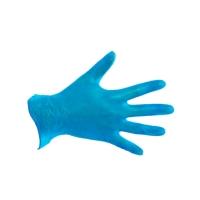CMT 3900 wegwerphandschoenen latex gepoederd blauw - maat L - pak van 100 stuks