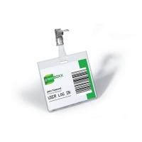 Durable 8003 congresspeld/badge met clip 90x60mm - pak van 25