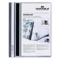 Durable Duraplus 2579 snelhechtmap A4 PVC personaliseerbaar grijs