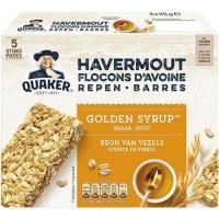 Quaker havermout repen Golden Syrup 35 gram - display van 24