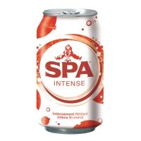 Spa Intense bruisend water blikje van 33 cl - pak van 28