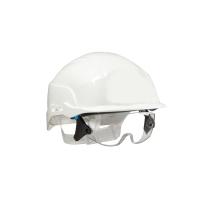 Centurion Spectrum geventileerde helm + geïntegreerde bril - wit
