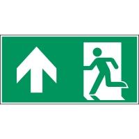 Brady PP pictogram A0/E001 nooduitgang links rechtdoor 297x148mm