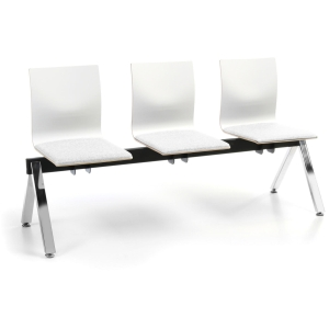 Timor waiting bench with 3 seats white