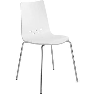 Eol Spoon cafetariastoel, hout, wit, per 2 stoelen