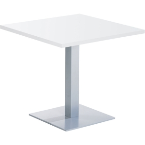 Square breakroom table 80 x 73,5 cm white