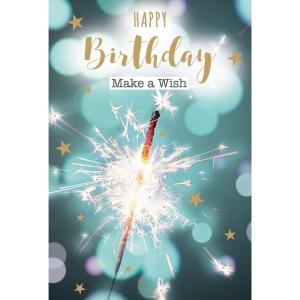 Wenskaarten gelukkige verjaardag -wens -  pak van 6