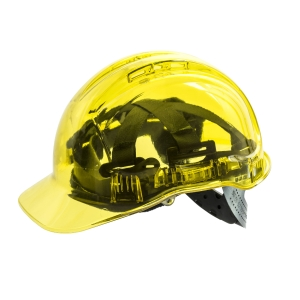 Portwest Peak View PV54 transparent safety helmet - Yellow