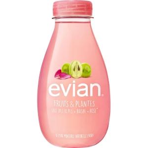 Evian druiven & rozen water 37cl - pak van 12 flessen