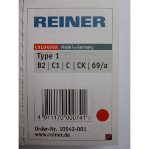 Reiner B2 navulling Color Box nummerstempel type 1 rood