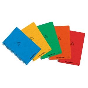 Aurora spiraal notitieboekje 105x165mm geruit 5x5mm 60 vellen