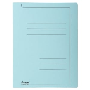Exacompta transfer files A4 cardboard 275g blue - pack of 10