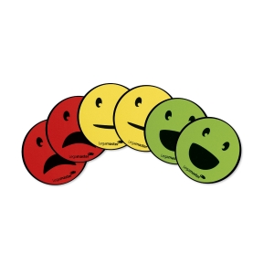 Legamaster magneten emoticons, pak van 6 stuks