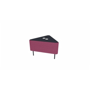 Eol Zélie hoekmodule, B 68 x H 43 x D 60 cm, stof, roze
