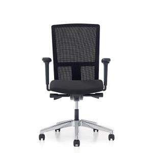 Prosedia Se7en Ergo bureaustoel met wielen harde ondergrond, stof/mesh, zwart