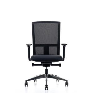 Prosedia Se7en Ergo bureaustoel met wielen zachte ondergrond, stof/mesh, zwart