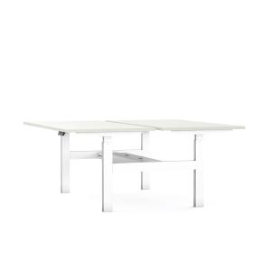 Eol Axel Bench bureau, met hoogteregeling, L 180 x B 170 cm, wit