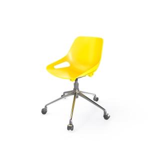 Eol Rosalie stoel met poten met wielen, kunststof, geel