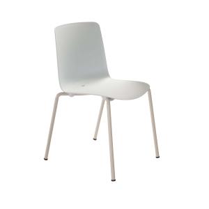 Eol Gelati stoel zonder armleuningen, wit, kunststof, per 4 stoelen