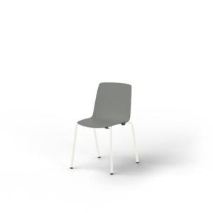 Eol Gelati stoel zonder armleuningen, grijs, kunststof, per 4 stoelen