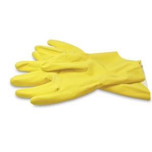 Bingold huishoudhandschoenen, latex, medium, per paar