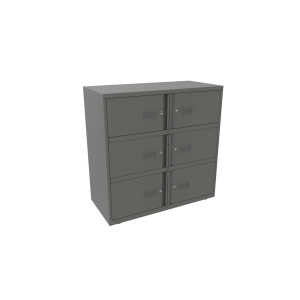 BISLEY ESSENTIEL LOCKER 6 COMP ANTHR
