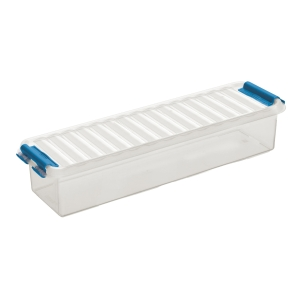 Sunware Q-line opbergdoos 0,9 liter transparant/blauw