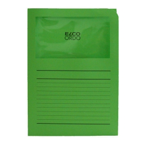 Elco 420504 Ordo L-mapjes met venster groen - doos van 100