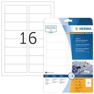 Herma 4515 textiel etiketten 88,9x33,8mm wit - doos van 320