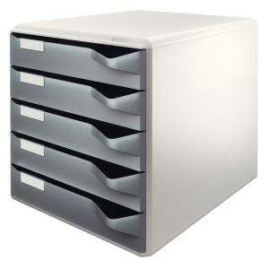 Leitz 5280 5-drawer unit grey