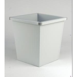 Waste bin metal squared 27 litres grey