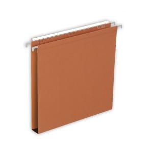 Lyreco Budget suspension files drawers 30mm 330/250 orange 230 g/m²- box of 25