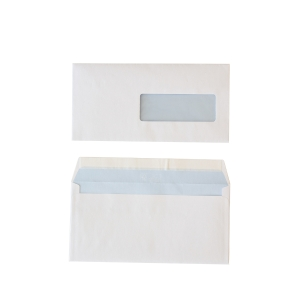 Standard envelopes 114x229mm peel and seal window right 80g - box of 500