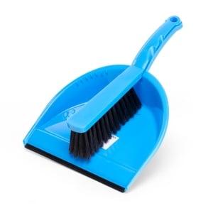 Stoffer en blik PVC blauw