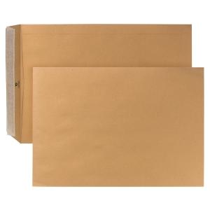 Bags 280x400mm peel and seal 120g brown - box of 250
