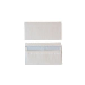 Standard envelopes 114x229mm self seal 80g - box of 500
